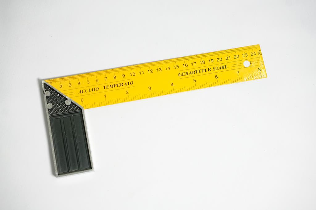 گونیا آلومینیومی زرد 25 سانت